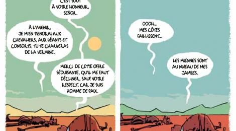 Le retour de Don Quichotte en Bande dessinée