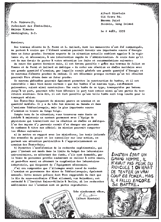 lettre einstein