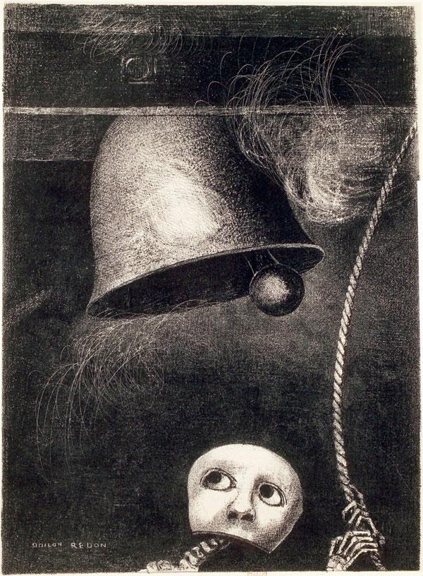 Odilon-Redon 1882,Planche-3-Edgar-Poe