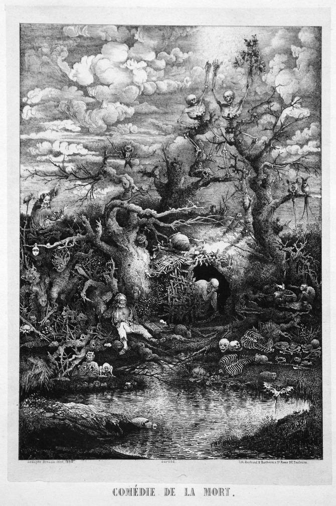 Rodolphe Bresdin, Comédie de la Mort, 1854